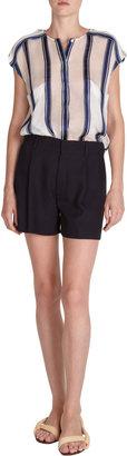 Chloé Pleated Panama Shorts