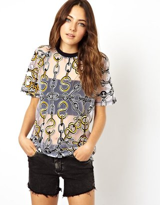 Asos T-Shirt with Chain Print Burnout