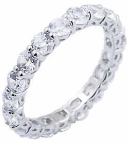 Diamonique 2.70 cttw Eternity Band Ring, Platin