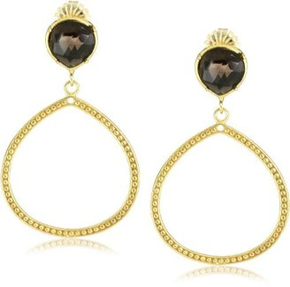 "Coralia Leets Jewelry Design ""Riviera Collection"" 12mm Single Frame Earrings Smokey"