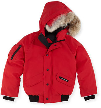 Canada Goose Rundle Bomber w/Detachable Fur Trim, Red, Youth XS-XL $475 thestylecure.com