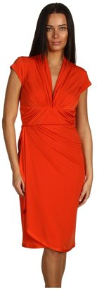 Z Spoke Zac Posen Jersey Wrap Dress (Orange) - Apparel