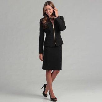 Tahari ASL Tahari Women's Black Goldtone Zipper Skirt Suit $129.99 thestylecure.com