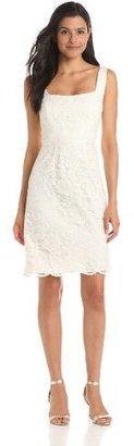 Jill Stuart Jill Women's Seamed Lace-Bodice Dress