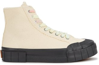 Good News Juice Cream Canvas Hi-top Sneakers