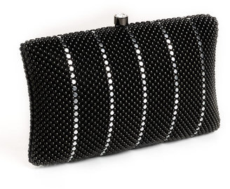 Whiting & Davis Crystal Pillow Minaudiere Bag