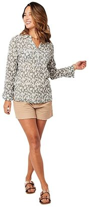 Carve Designs Dylan Gauze Shirt (Moss Hani) Women's Long Sleeve Button Up