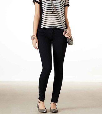American Eagle Lace Up Jegging Ankle