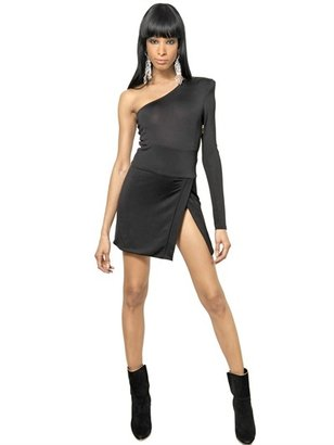 Balmain Viscose Wool Jersey Dress