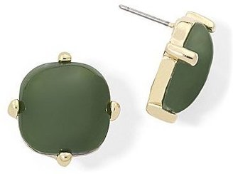 JCPenney Olive Green Square Stud Earrings