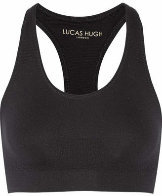 Lucas Hugh - Technical Knit Stretch Sports Bra - Black $100 thestylecure.com