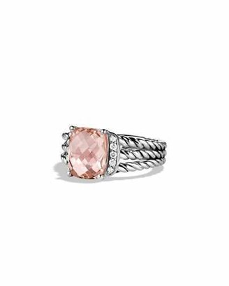 David Yurman Petite Wheaton Ring with Morganite and Diamonds $795 thestylecure.com