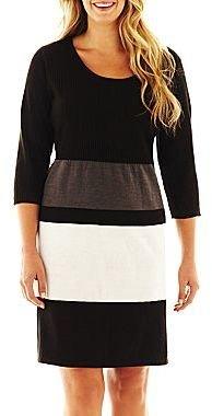 Studio 1 Striped Sweater Dress – Plus