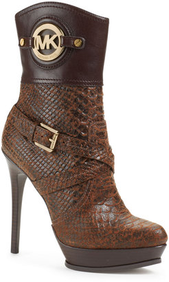 Michael Kors Stockard Mixed-Leather Bootie