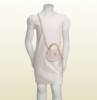 Gucci Short Sleeve Dress With 'bamboo Bag' Print.