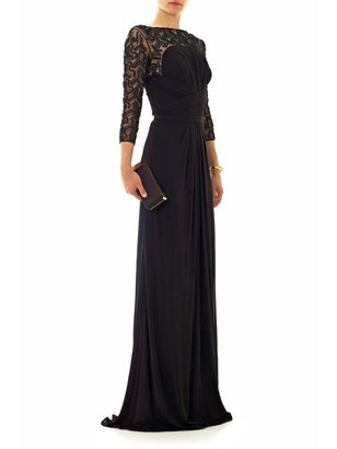 Issa Embellished jersey gown