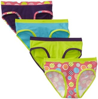 Hanes Little Girls' Four Pack Stretch Hipster