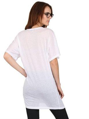 Stella McCartney Zebra Printed Cotton Jersey T-Shirt