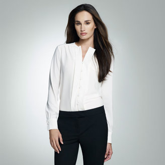 Jones New York Relaxed Ruffle Front Blouse