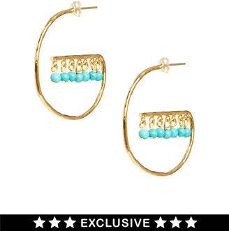 Asos Ottoman Hands Exclusive To Drop Hoop Earrings