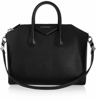 Givenchy Antigona Medium Textured-leather Tote - Black