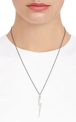 Ileana Makri Women's Diamond & White Gold Thunder Bolt Pendant Necklac