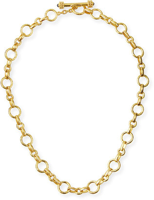 "Elizabeth Locke Siena Gold 19k Link Necklace, 17""L"