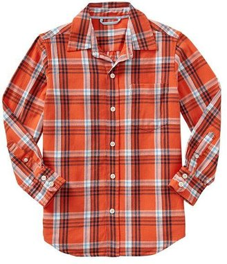 Gap Herringbone plaid shirt
