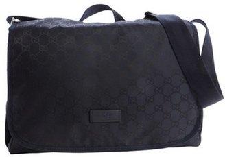 Gucci blue GG logo print messenger bag