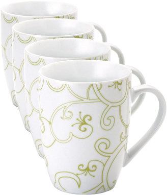 Rachael Ray Curly-Q Set of 4 Mugs