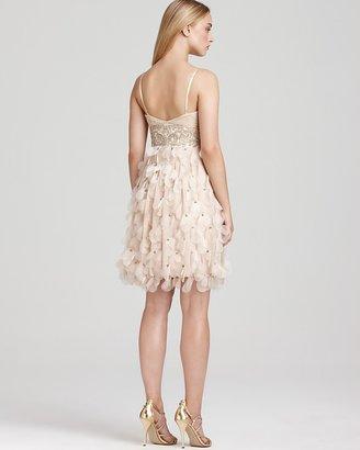 Sue Wong Short Petal Beaded Dress