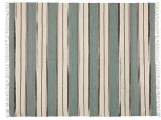 Pottery Barn Conrad Stripe Recycled Yarn Indoor/Outdoor Rug - Blue