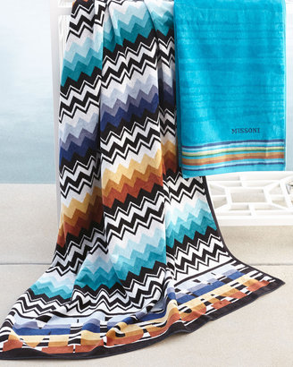 "Missoni Home Collection Blue ""Niles"" & ""Liam"" Beach Towels"