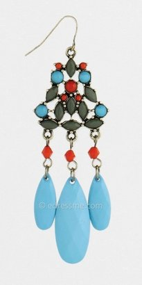 Multicolored Faceted Bead Chandelier Earrings by ZAD