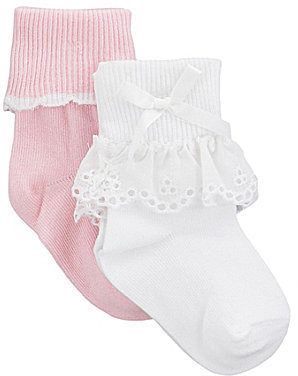 Starting Out Infant Eyelet Lace Socks 2-Pack