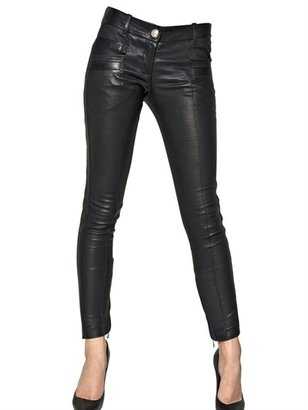 Balmain Nappa Leather Biker Jeans