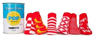 Trumpette Baby Pop Socks - 6 Pairs - Red Assortment