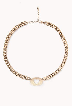 Forever 21 Cutout Heart ID Necklace