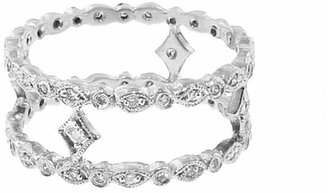 Cathy Waterman Platinum Tiny Double Marquis Ring Band