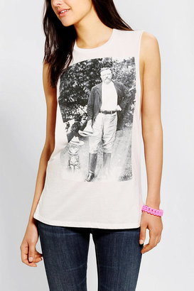 Urban Outfitters Corner Shop Roosevelt Cat Muscle Tee