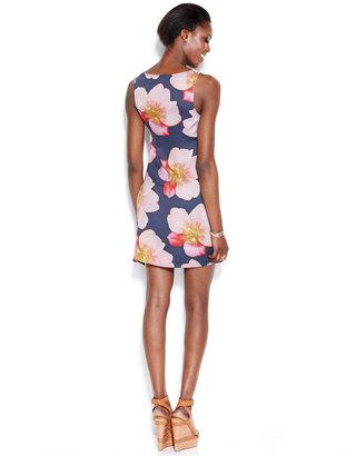 Rachel Roy Sleeveless Floral-Print Dress