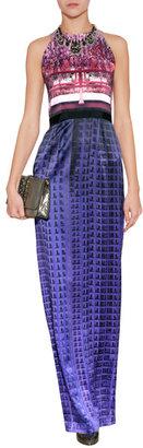 Mary Katrantzou Silk Column Gown in Multi