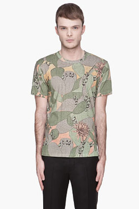 Paul Smith Green cactus Print t-shirt