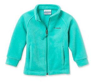 Columbia Baby Girls' Turquoise Zip Front Fleece Jacket