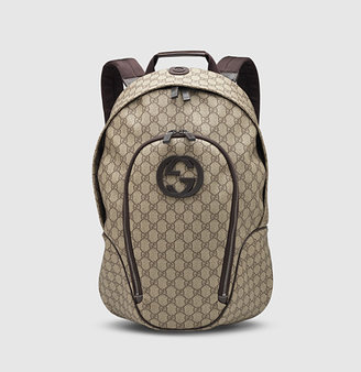 Gucci GG supreme canvas interlocking G backpack