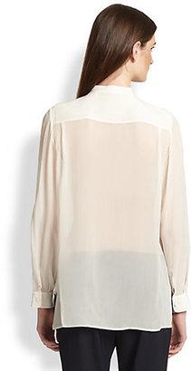 3.1 Phillip Lim Silk Chiffon Henley Shirt