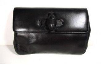 Prada excellent (EX Black Leather Clutch Bag