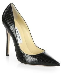 Jimmy Choo Anouk Snakeskin Pumps