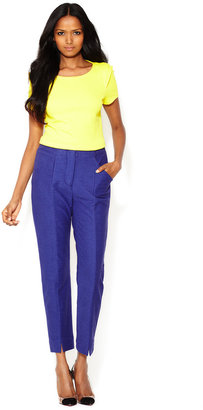 Tracy Reese Textured Knit Slim Pant