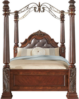 Rooms To Go Southampton Walnut 4 Pc King Canopy Bed